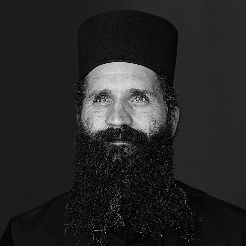 © Christine Turnauer - Father Christophorus, Greek Orthodox, Mani, Greece 2012, Coal pigment print
