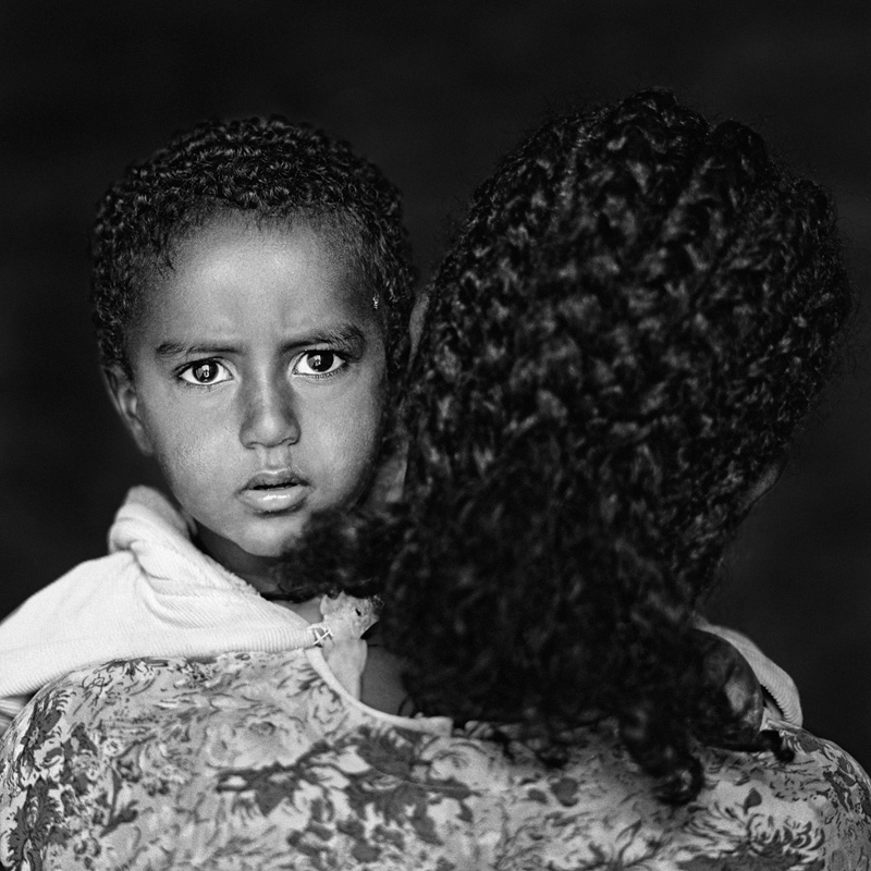 © Christine Turnauer, Madin Aregawe with her son, Geralta, Ethiopia, 2011, Coal pigment print